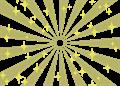 日の出風の放射背景(キラキラ付き)金色
