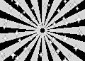 日の出風の放射背景(キラキラ付き)星型のドット