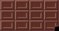 板チョコのイラスト・齧られたミルク