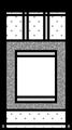 全懐紙、半紙、色紙向け掛け軸の白紙の本紙イラスト・モノクロ