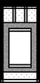 半切1/2向け掛け軸の白紙の本紙イラスト・モノクロ