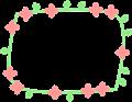 花のフレーム枠
