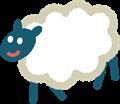 黒い顔の羊イラスト