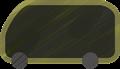 乗用車イラスト・黒のワンボックスカー・ミニバン