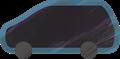 乗用車イラスト・黒のステーションワゴン