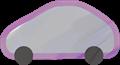 乗用車イラスト・灰色のハイブリッド
