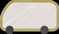 乗用車イラスト・灰色のワンボックスカー・ミニバン