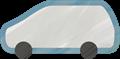 乗用車イラスト・灰色のステーションワゴン
