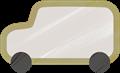 乗用車イラスト・灰色のジープ