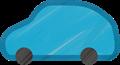 乗用車イラスト・青系のSUV・RV
