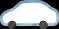 乗用車イラスト・白のセダン・スポーツ