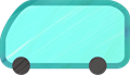 乗用車イラスト・水色のワンボックスカー・ミニバン