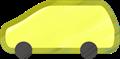 乗用車イラスト・黄色のステーションワゴン