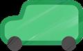 乗用車イラスト・緑色のジープ
