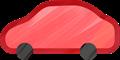 乗用車イラスト・赤のセダン・スポーツ
