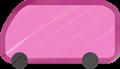 乗用車イラスト・ピンクのワンボックスカー・ミニバン