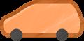 乗用車イラスト・オレンジのステーションワゴン