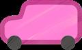 乗用車イラスト・ピンクのジープ