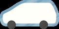 乗用車イラスト・白のステーションワゴン