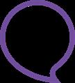 丸型ふきだしイラスト・紫色フチ