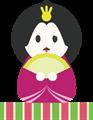 雛人形イラスト・困り顔女雛