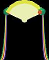 檜扇(飾り有)イラスト