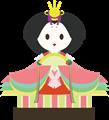 雛人形イラスト・親王台の上の女雛