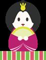 雛人形イラスト・微笑みの女雛