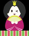 雛人形イラスト・ウインクの女雛