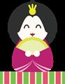 雛人形イラスト・ニコニコ女雛
