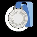 銀メダル、青首かけリボン
