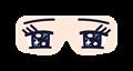 目隠しアイマスクイラスト・漫画の目