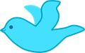 幸せの青い鳥イラスト