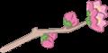 桃の花一枝イラスト・筆線カラー
