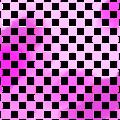 桃の花一枝イラスト・背景用ピンクの格子模様
