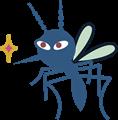 狙いを定めている蚊のイラスト