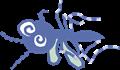 ヘロヘロに弱っているヒトスジシマカのイラスト