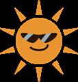 サングラスをした夏のギラギラ太陽イラスト
