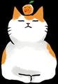 猫の鏡餅イラスト