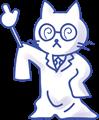 白衣の先生猫ちゃんモノクロ