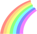 虹のイラスト