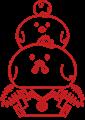 ニワトリ鏡餅イラスト素材ハンコタイプ