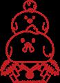 ニワトリ鏡餅イラスト素材・塗り絵