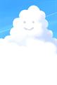 にこにこ顔の入道雲のイラストのポストカード