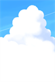 入道雲のイラストのポストカード