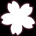 桜の花モノクロイラスト