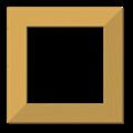 ナチュラル額縁フレーム枠イラスト・木目メープル・色紙正方形