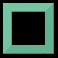 ナチュラル額縁フレーム枠イラスト・木目ミントグリーン・色紙正方形