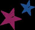 星のマーク・紫と紺色