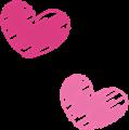 ハートのマーク・ピンク